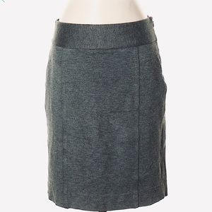 White House Black Market Skirts - WHBM Ponte Knit Gray Pencil Skirt